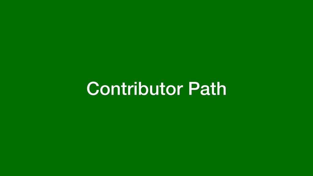 Contributor Path