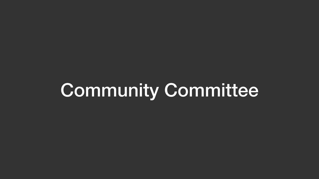 Community Committee