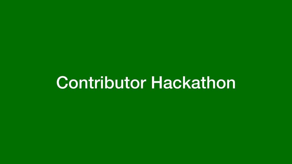 Contributor Hackathon