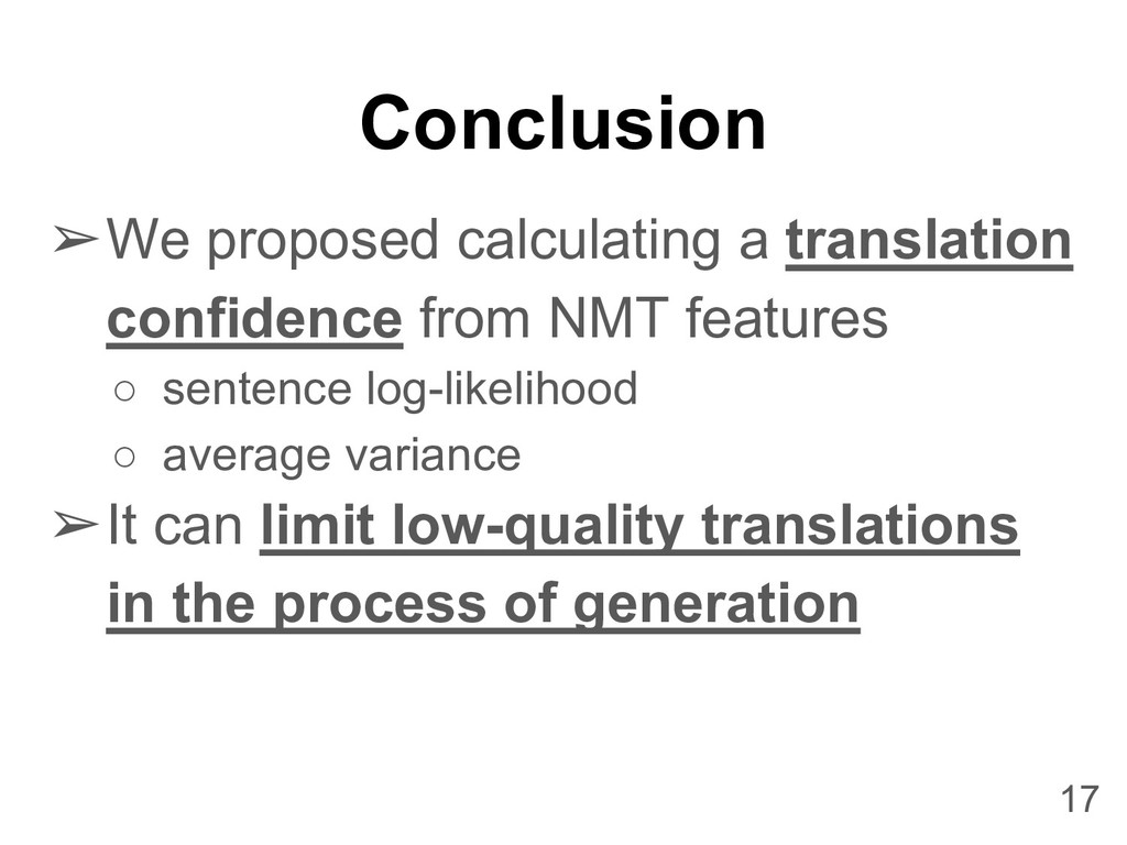 Conclusion ➢We proposed calculating a translati...