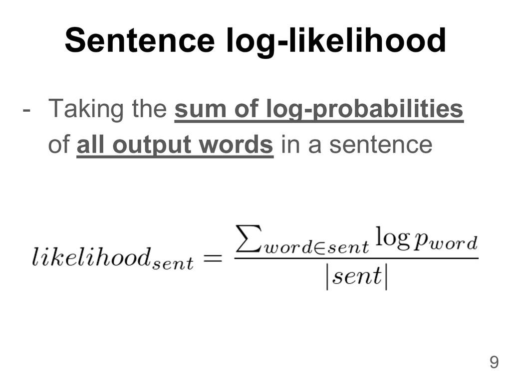 Sentence log-likelihood 9 - Taking the sum of l...