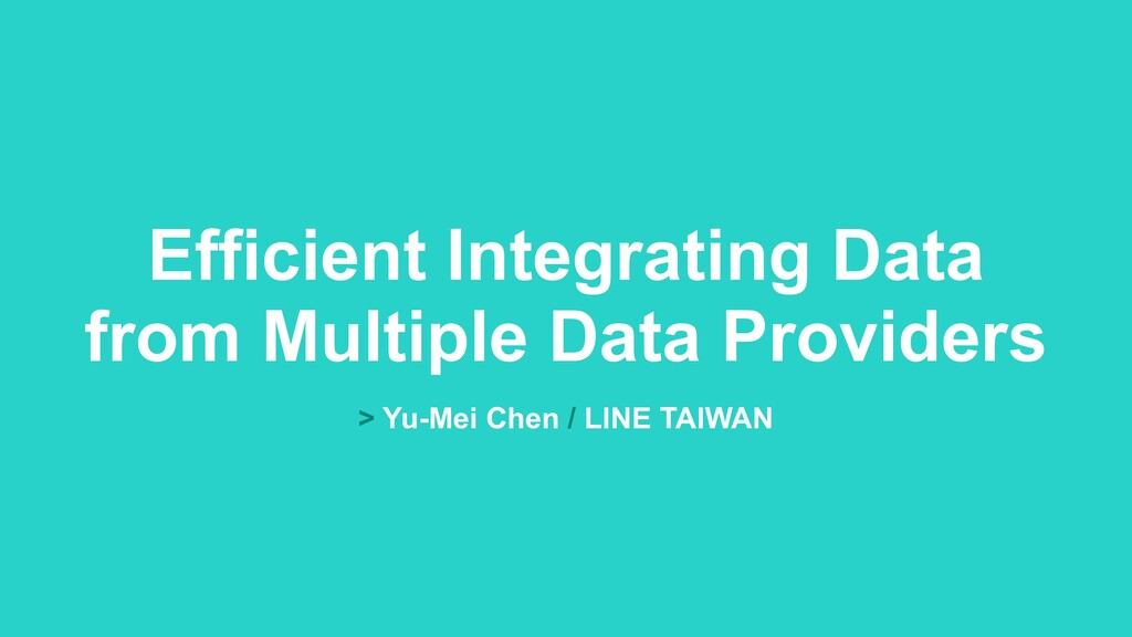 Efficient Integrating Data