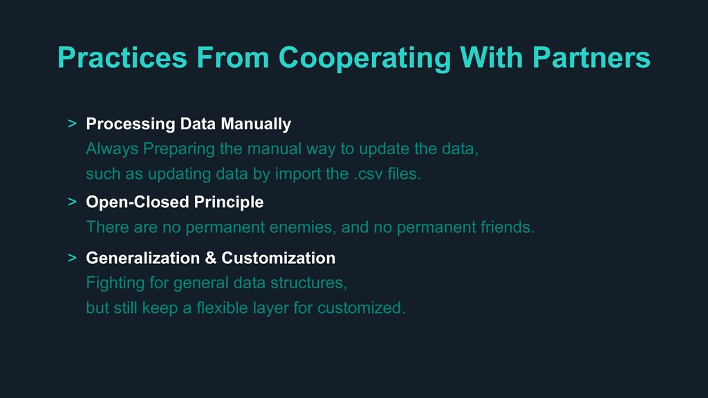Practices From Cooperating With Partners > Proc...