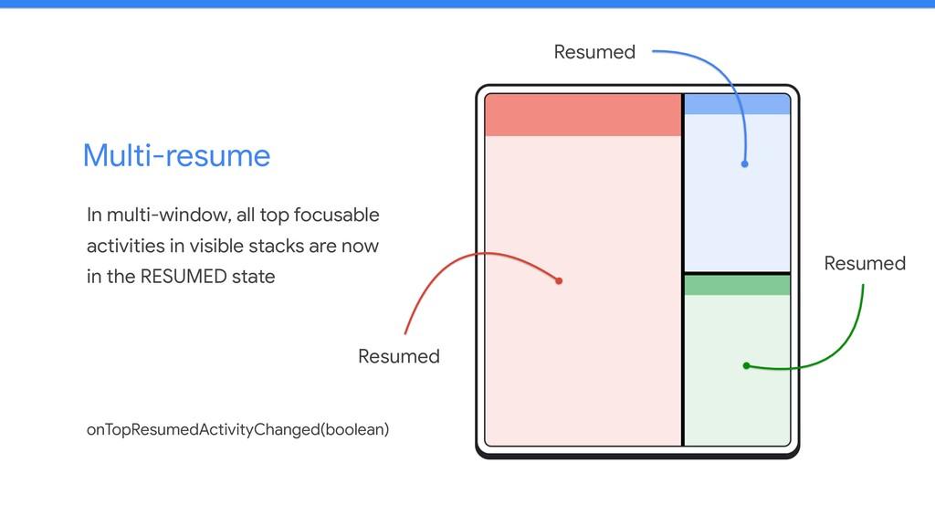 Multi-resume In multi-window, all top focusable...