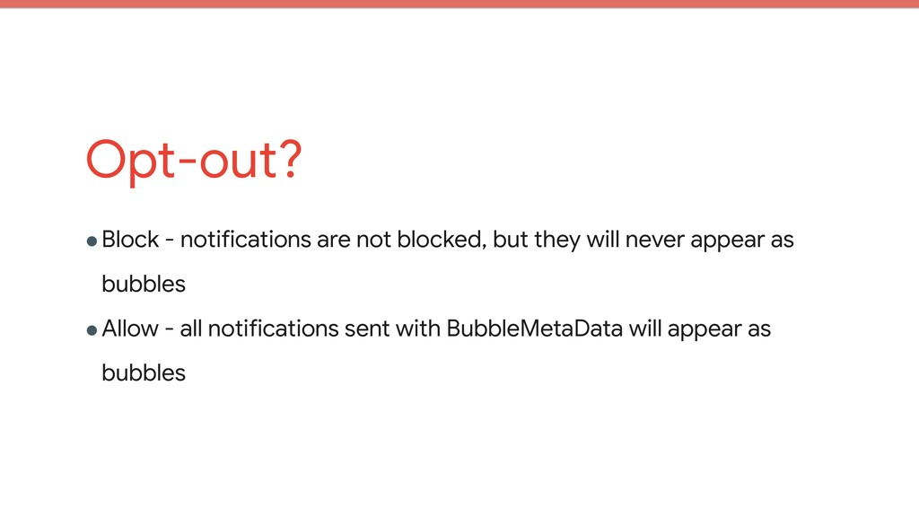 Opt-out? !Block - notifications are not blocked...