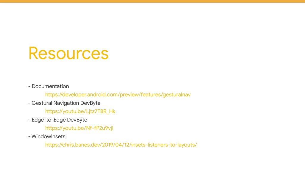 Resources - Documentation  https://developer.an...