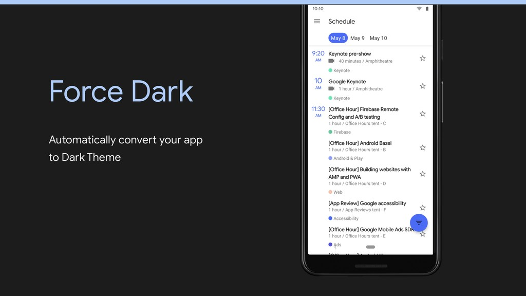 Automatically convert your app to Dark Theme Fo...