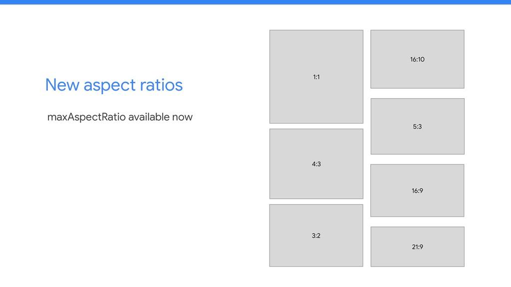 New aspect ratios maxAspectRatio available now