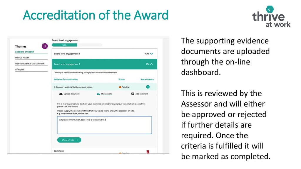 Accreditation of the Award . The supporting evi...