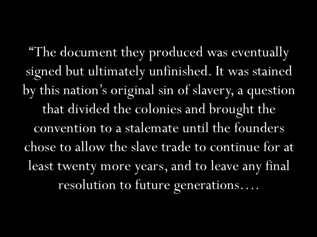 """""""The document they produced was eventually sign..."""