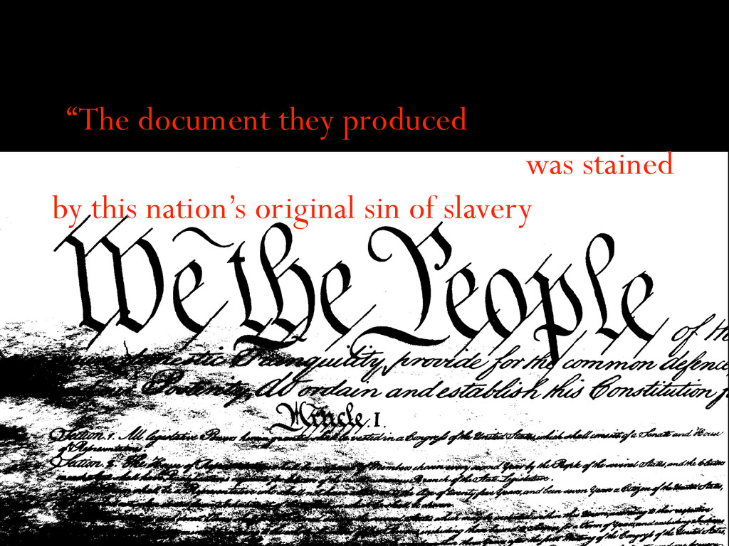 """""""The document they produced was stained by this..."""