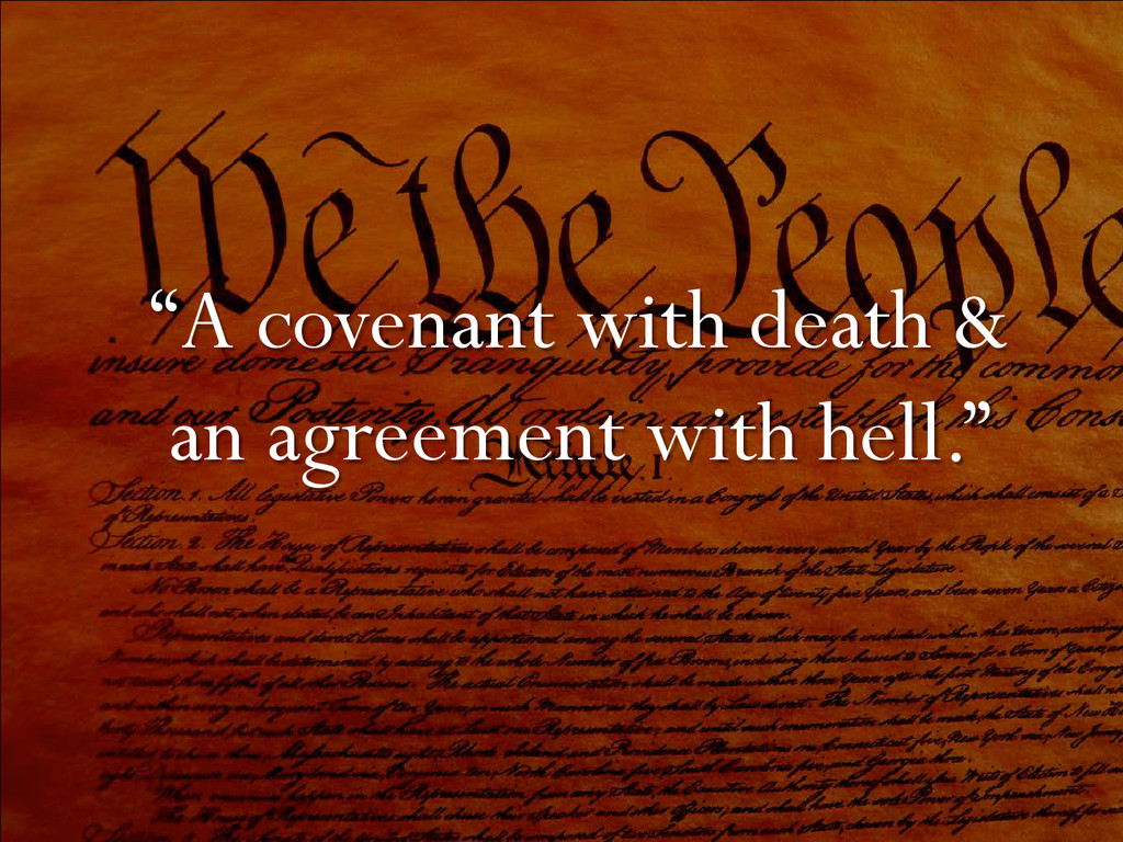 """""""A covenant with death & an agreement with hell..."""