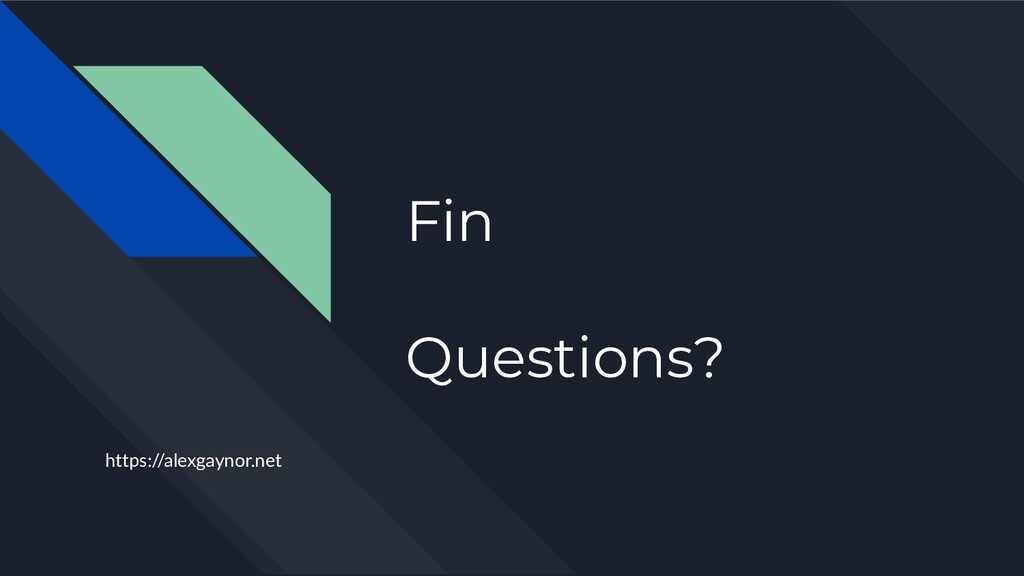 Fin Questions? https://alexgaynor.net