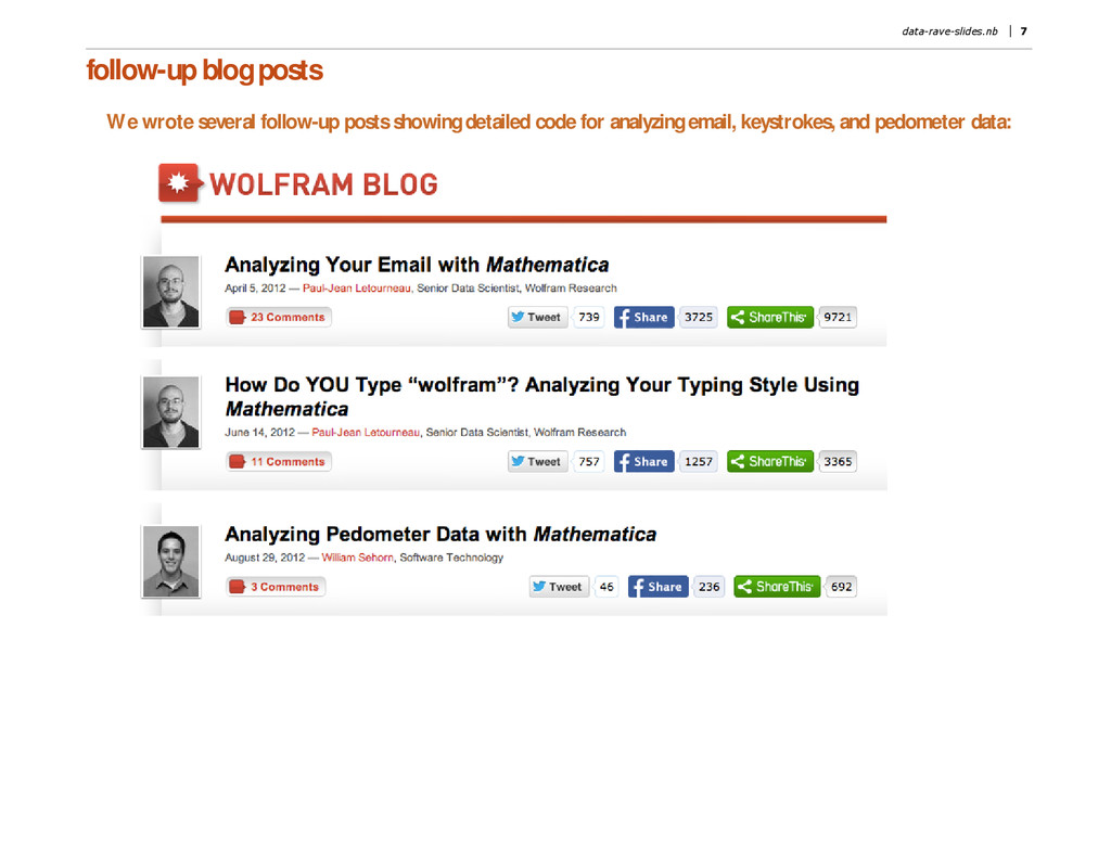 follow-up blog posts We wrote several follow-up...