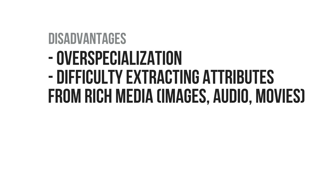 - OVERSPECIALIZATION - DIFFICULTY EXTRACTING AT...
