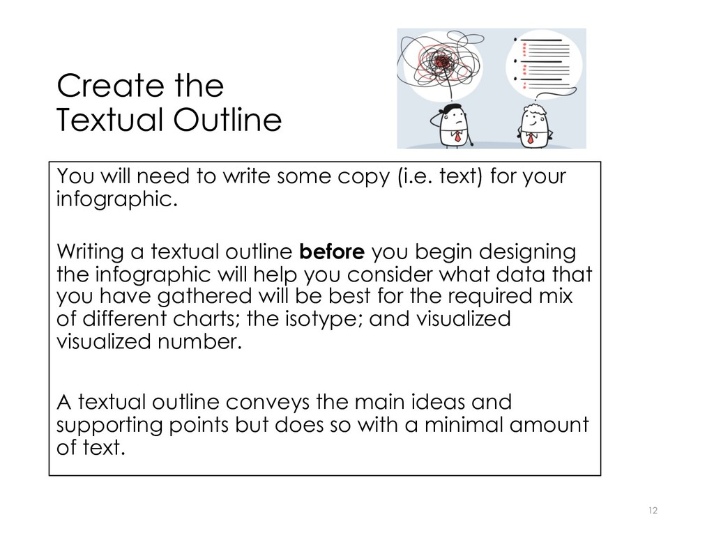 Create the Textual Outline 12 You will need to ...