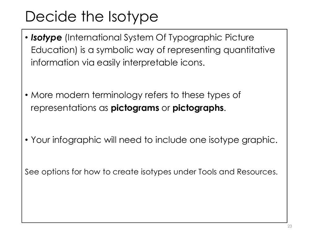 Decide the Isotype • Isotype (International Sys...