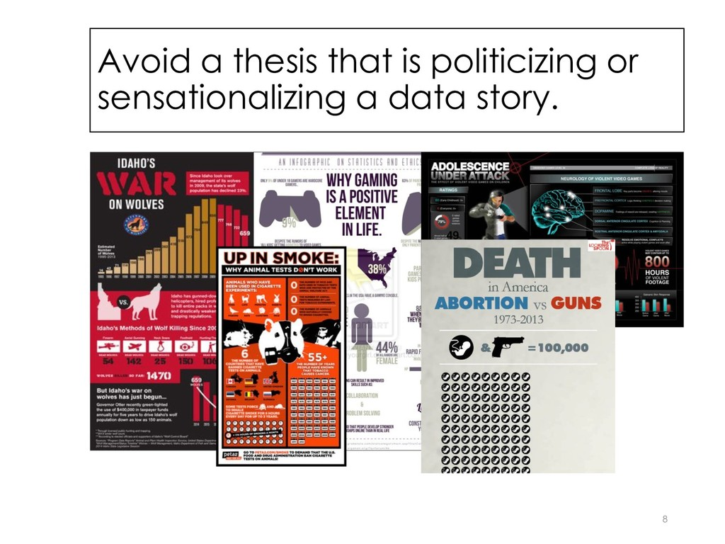 Avoid a thesis that is politicizing or sensatio...