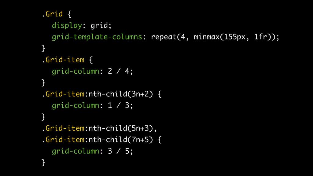 .Grid { display: grid; grid-template-columns: r...