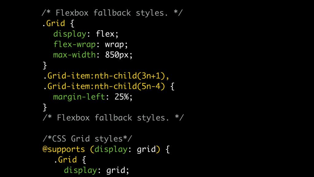 /* Flexbox fallback styles. */ .Grid { display:...