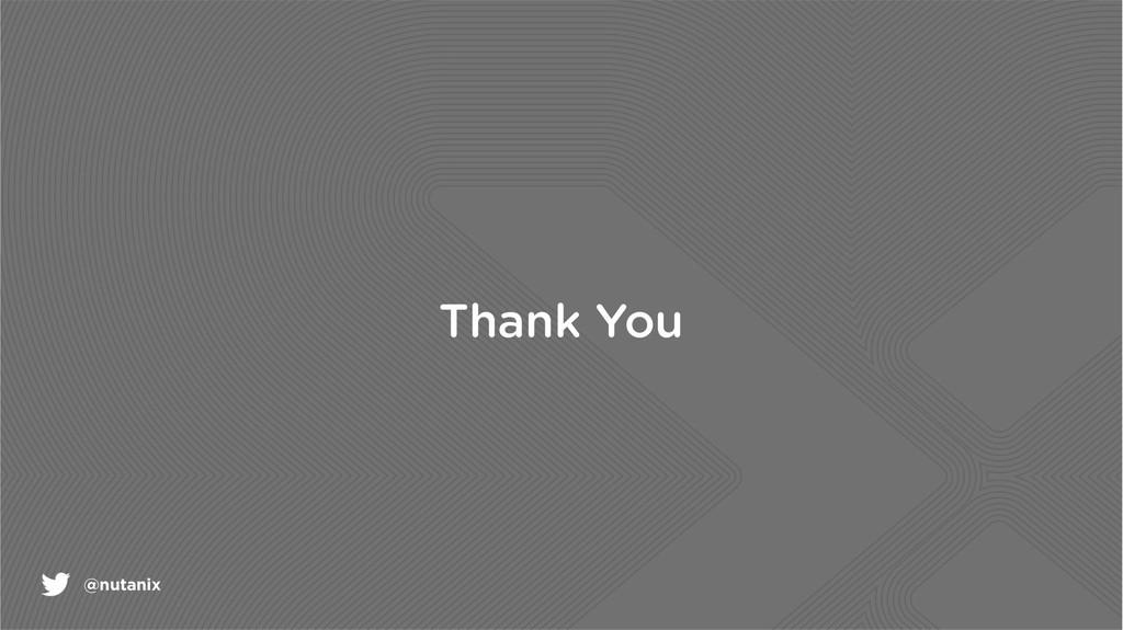 @nutanix Thank You