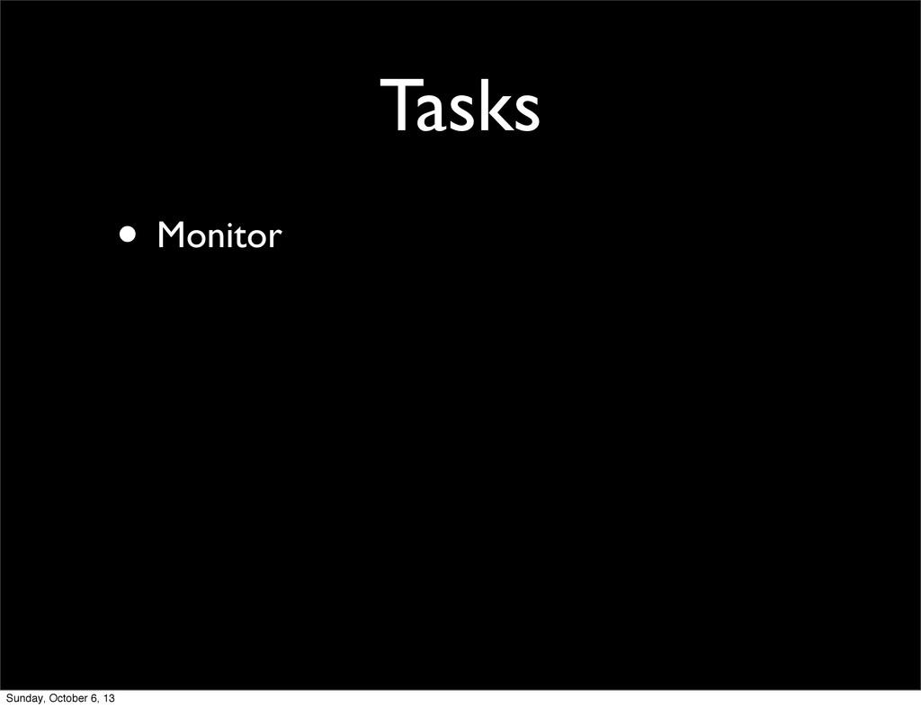 Tasks • Monitor Sunday, October 6, 13