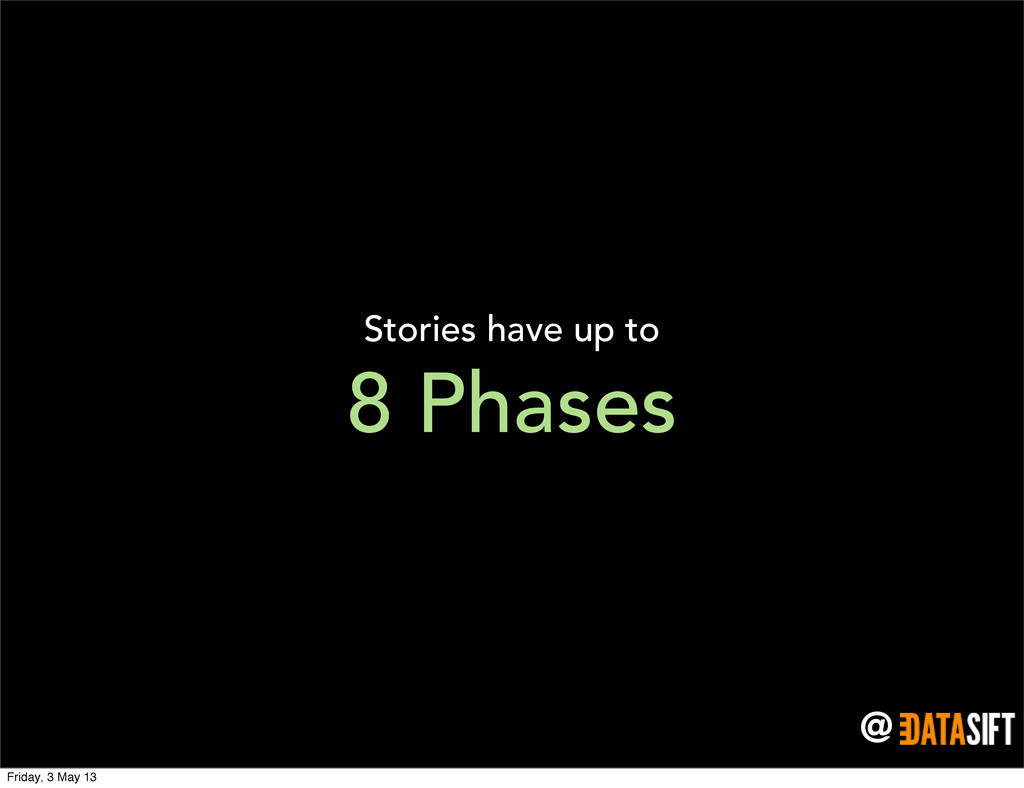 @ Stories have up to 8 Phases Friday, 3 May 13