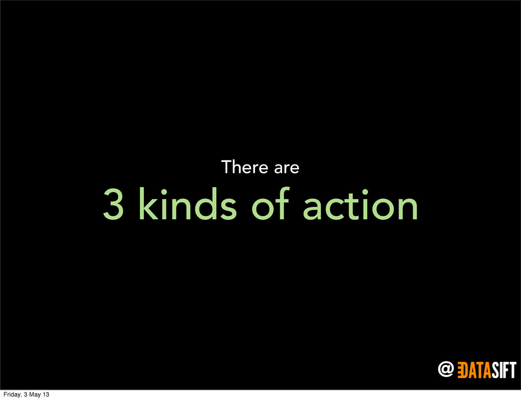 @ 3 kinds of action There are Friday, 3 May 13