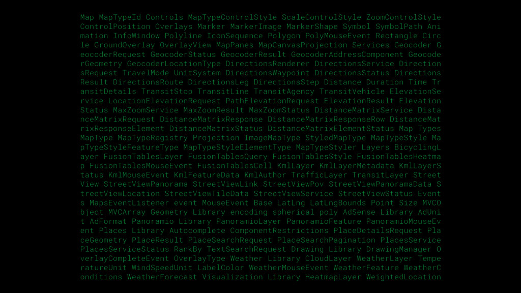 Map MapTypeId Controls MapTypeControlStyle Scal...