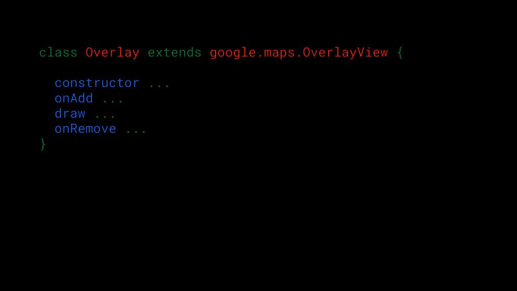 class Overlay extends google.maps.OverlayView {...