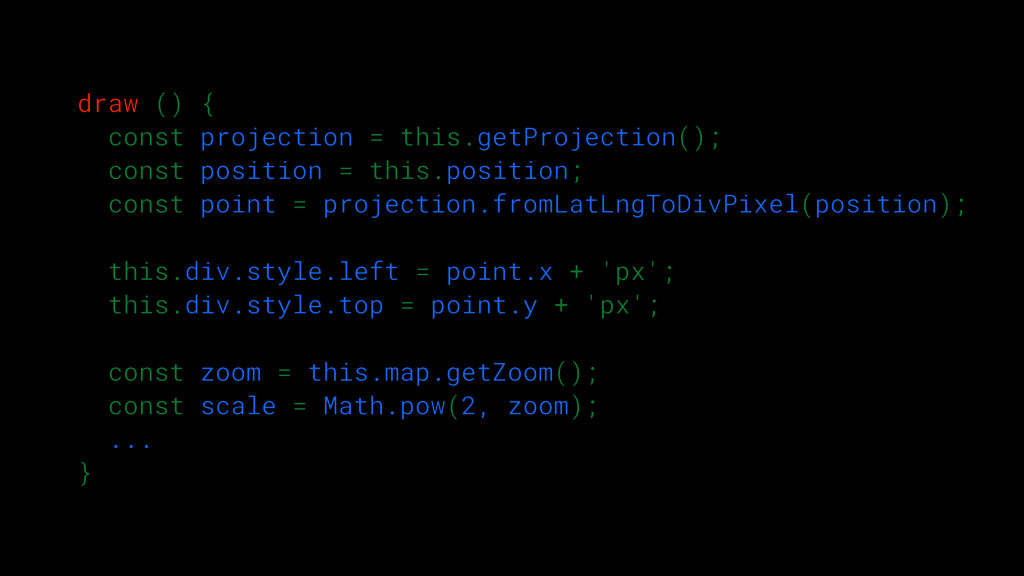 draw () { const projection = this.getProjection...