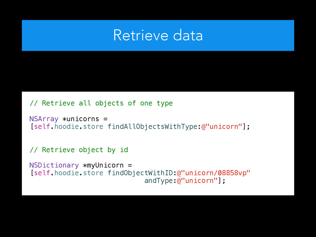 Retrieve data ! // Retrieve all objects of one ...
