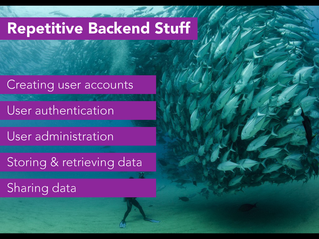 Repetitive Backend Stuff Creating user accounts...