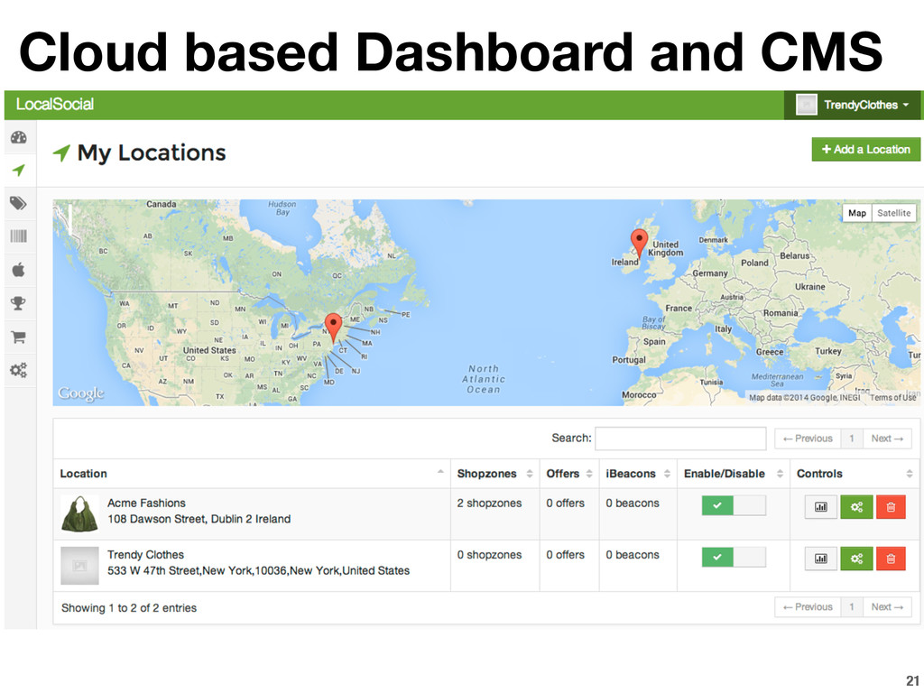 21 Cloud based Dashboard and CMS