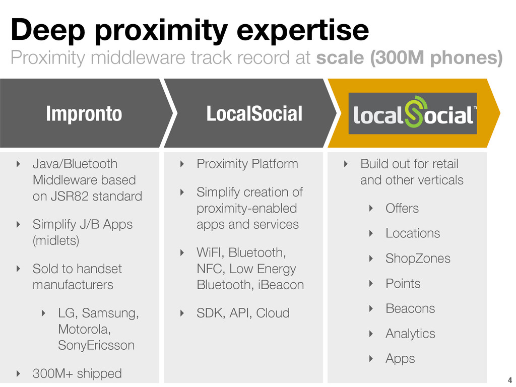 Proximity middleware track record at scale (300...