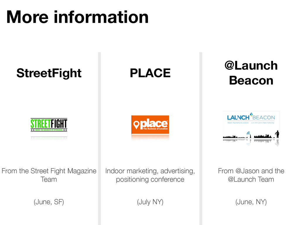 More information StreetFight PLACE @Launch Beac...