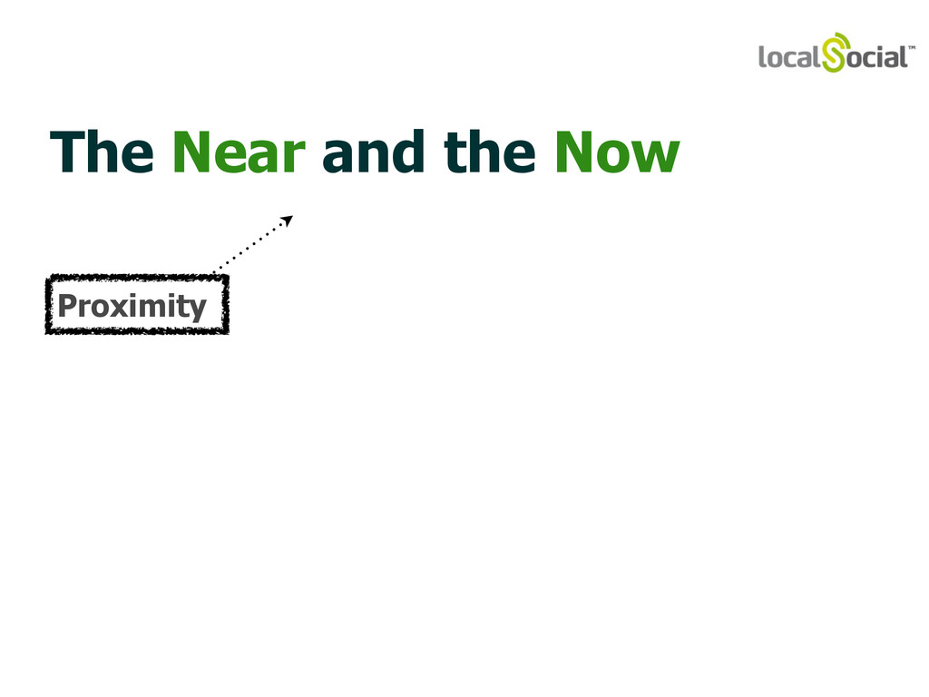 The Near and the Now Proximity