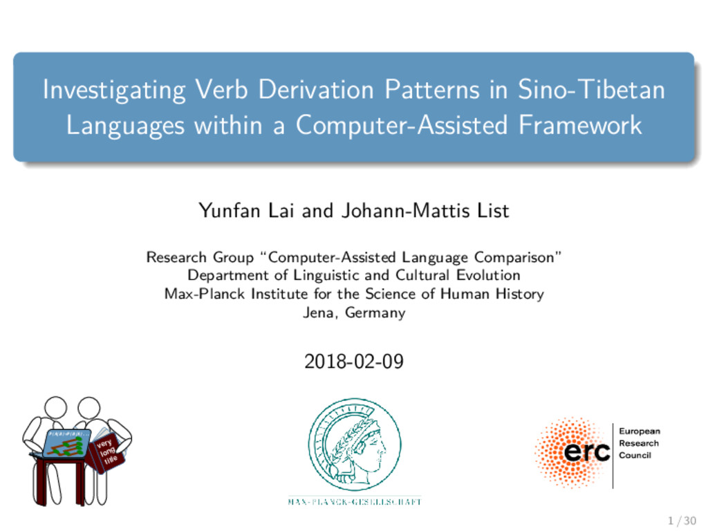 Investigating Verb Derivation Patterns in Sino-...