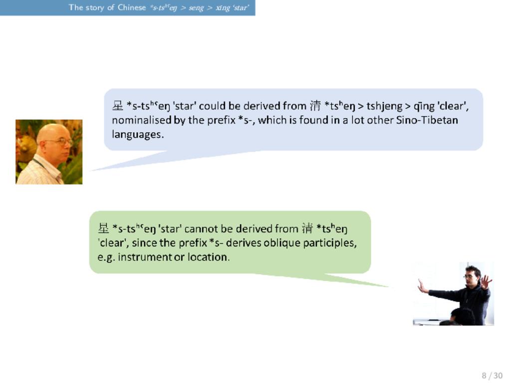 The story of Chinese *s-tsʰˤeŋ > seng > xīng 's...