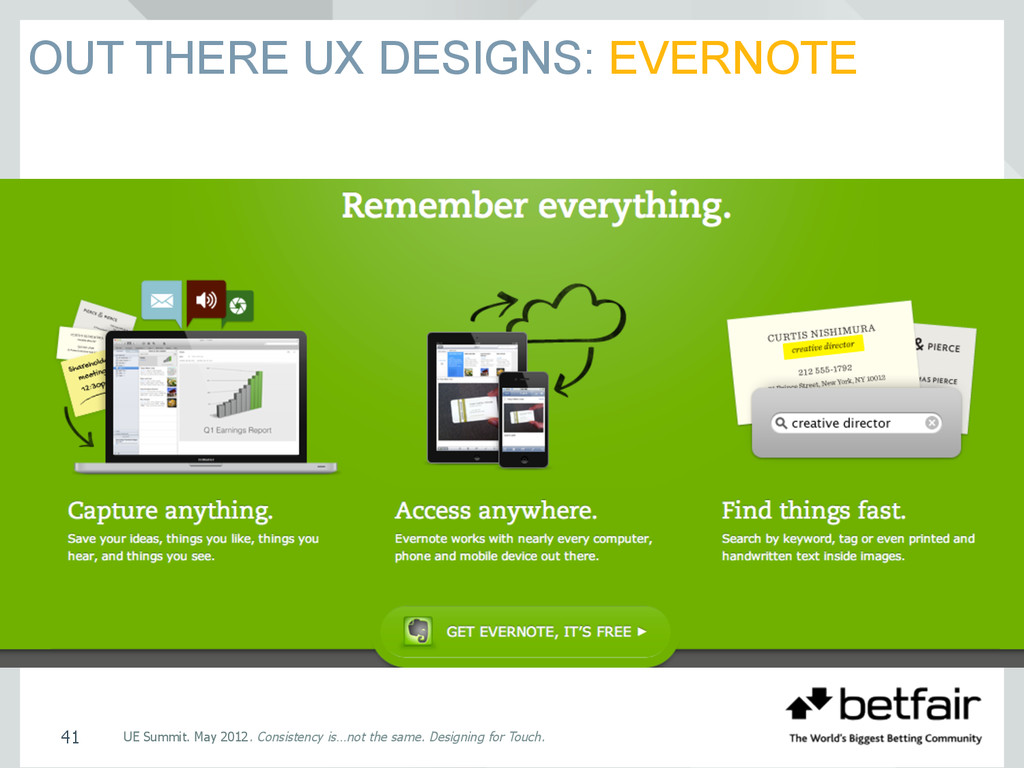 OUT THERE UX DESIGNS: EVERNOTE UE Summit. May 2...