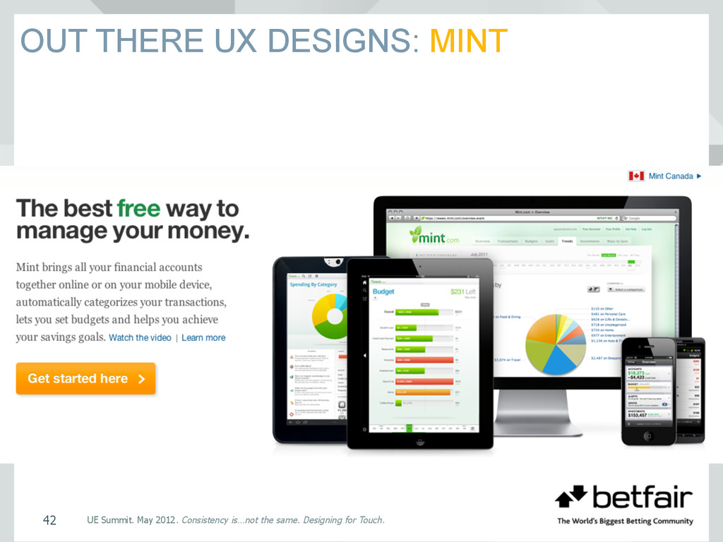 OUT THERE UX DESIGNS: MINT UE Summit. May 2012....