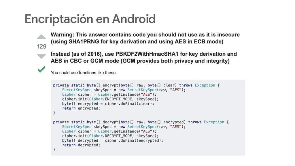 Encriptación en Android