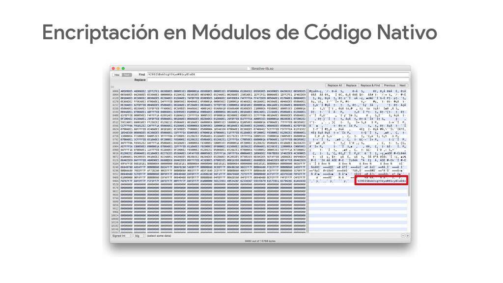Encriptación en Módulos de Código Nativo
