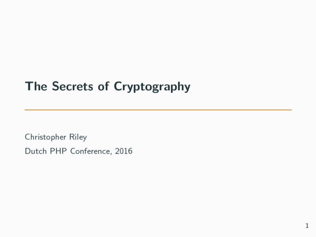 The Secrets of Cryptography Christopher Riley D...