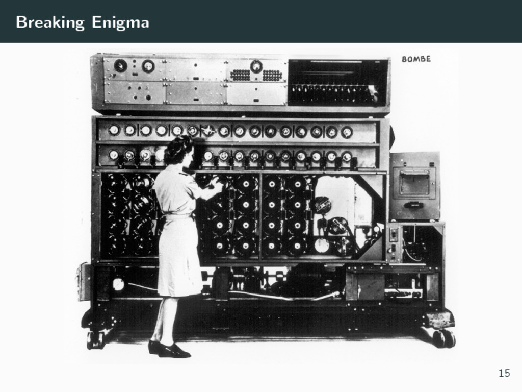 Breaking Enigma 15