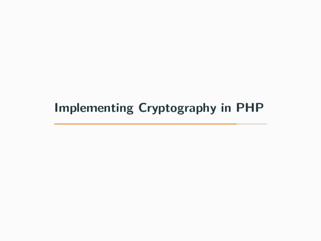 Implementing Cryptography in PHP