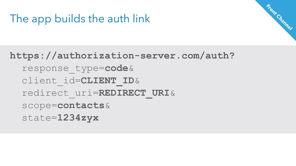 The app builds the auth link https://authorizat...