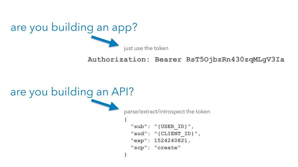 are you building an app? are you building an AP...