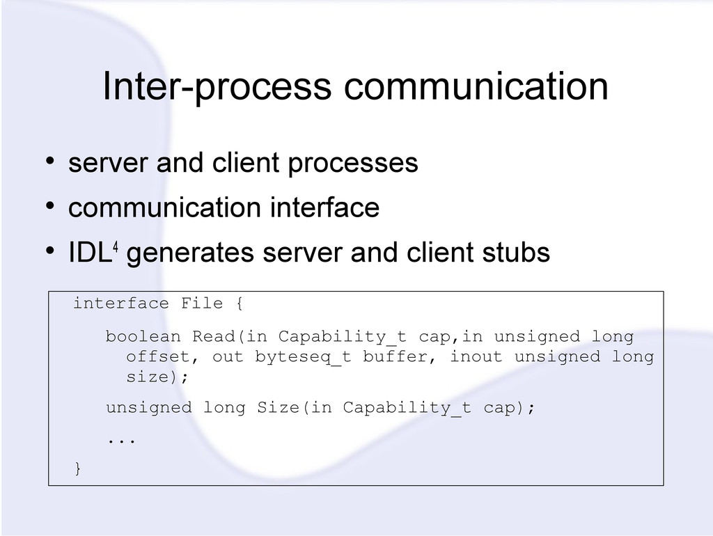 Inter-process communication  server and client...
