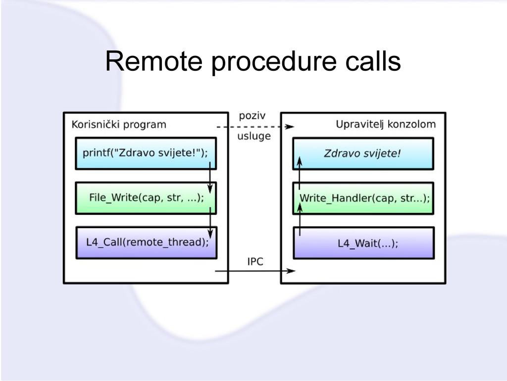 Remote procedure calls